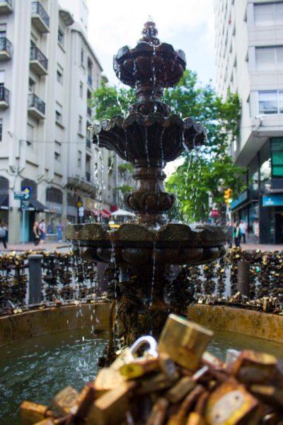O que fazer em Montevidéu - Fonte dos Cadeados