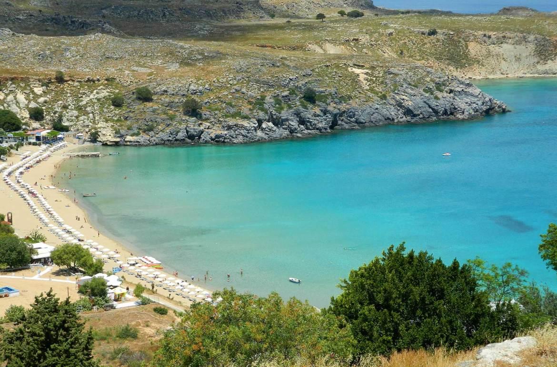 Praias mais bonitas da Europa - Lindos (Grécia)