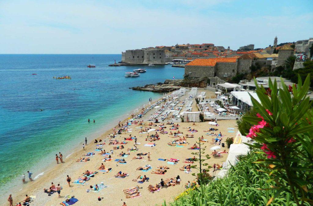 O que fazer na Croácia - Praia Banje (Dubrovnik)