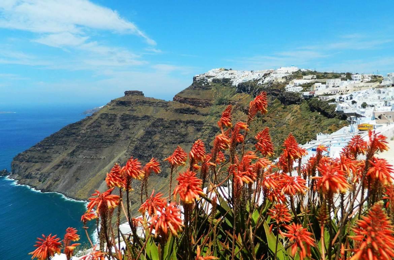 Quanto custa viajar para Grécia - Vista da 'caldera' de Santorini