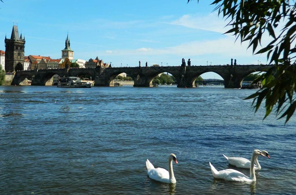 Roteiro em Praga - Rio Moldava e Ponte Carlos