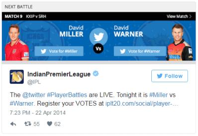 Twitter player battle