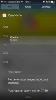 Notification center 2 iOS 7