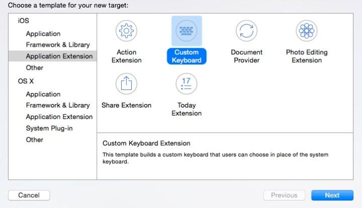 Teclados personalizados iOS 8
