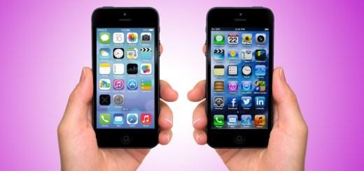 iOS 7 vs iOS 6