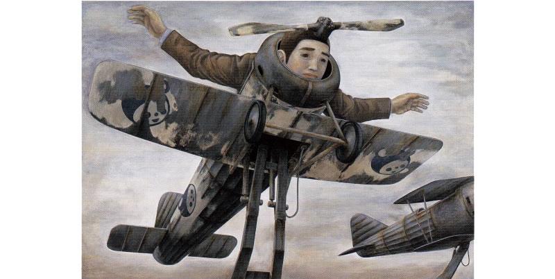 石田徹也《飛べなくなった人》1996年 / 静岡県立美術館蔵