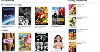 Youtube Movie Seccion