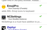 Cydia Updates: Browser Changer, EmojiPro, NCSettings y Zephyr