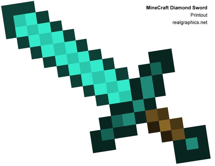 Minecraft Diamond Sword Coloring Pages. View Original . [Updated on 02