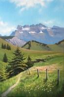 Peinture à l'huile sur toile, 40x60 cm.