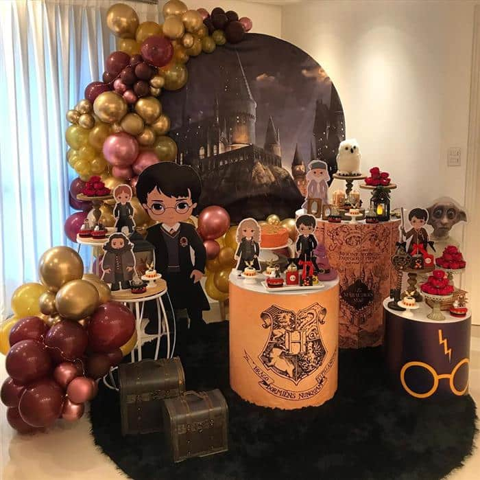 festa harry potter luxo