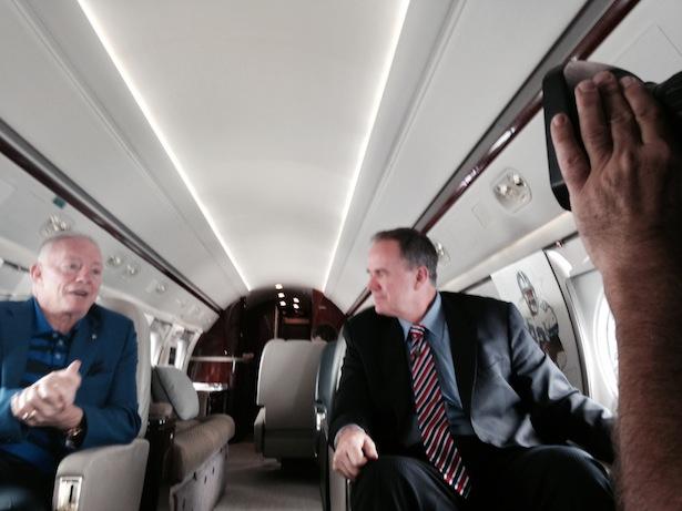 Jerry Jones Plane Cowboys owner Jerry Jones