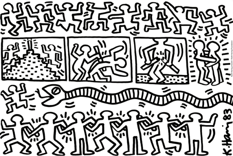 Keith Haring Senza titolo, 1983 Inchiostro su polistirolo Haggerty Museum of Art, dono dell'artista Keith Haring artwork © Keith Haring Foundation