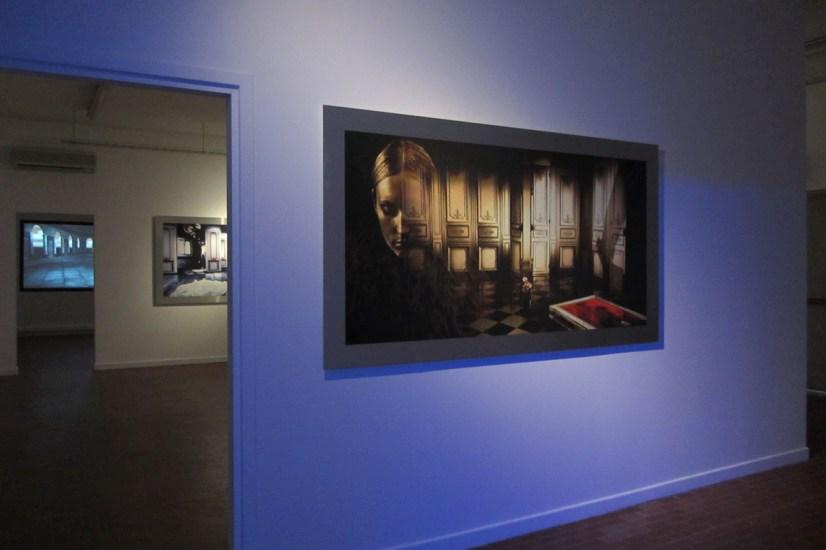 Sinestetiche visioni, sound digital art di Giorgio Merigo_veduta della mostra_Officina delle Zattere_Venezia