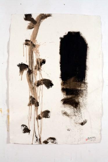 Piero Pizzi Cannella, Per una camera d'artista, Tecnica mista su carta, 2012