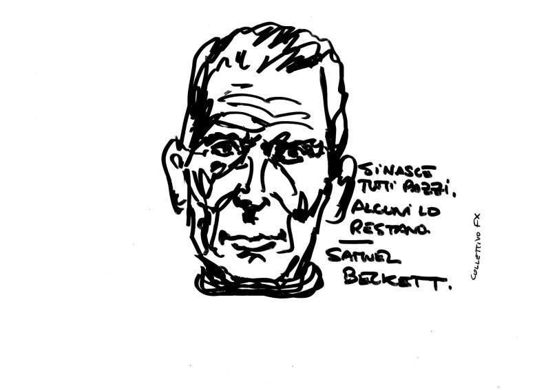 Collettivo FX, sticker, Samuel Beckett