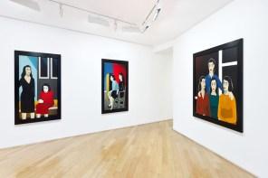 """Veduta della mostra """"Marjane Satrapi - Peintures"""", 30 gennaio - 23 marzo 2013, © Galerie Jérôme de NoirmontGalerie Jérôme de Noirmont"""