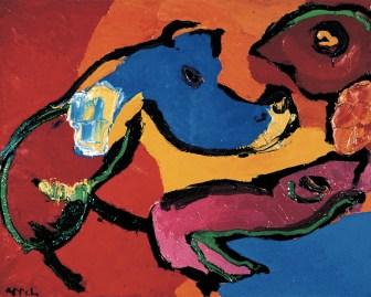Karel Appel, Senza titolo, 1971, olio su tela, cm 55x81, Collezione in Ca' La Ghironda, Modern Art Museum, Zola Predosa (BO)