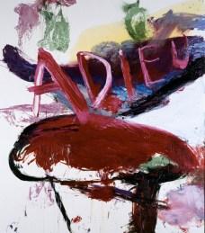 Julian Schnabel, Adieu, 1995, olio e resina su tela, cm 274x243, Collezione privata