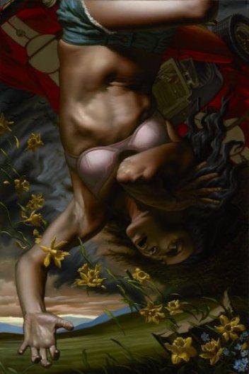 Nicola Verlato, Car Crash10, olio su tela, 61x91 cm
