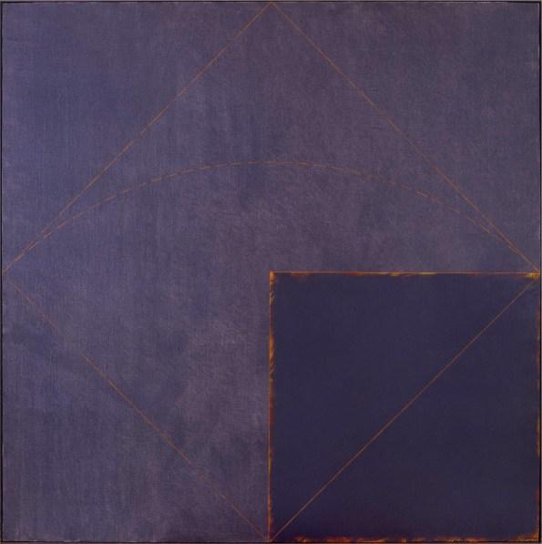 Claudio Verna, A 40, 1971, acrilico su tela, cm 150x150