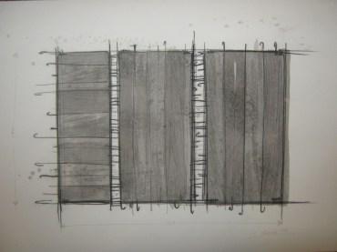 Giuseppe Uncini, Cemento, 1960, acquerello e matita su carta