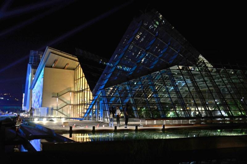 Inaugurazione del MUSE - Museo delle scienze, Trento, veduta in notturna. Foto: A. Frisinghelli
