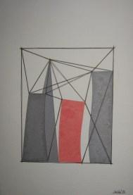 Giuseppe Uncini, Senza Titolo, 1993, collage su cartoncino