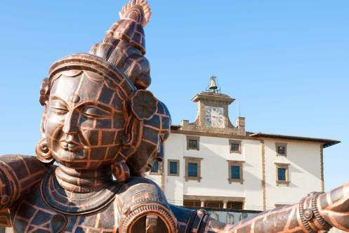 Zhang Huan, Three Heads Six Arms, Firenze, Forte Belvedere 2013. Foto: Guido Cozzi