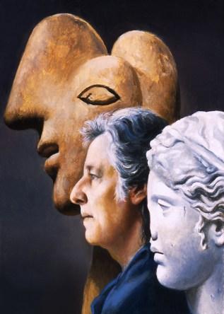 Carlo Maria Mariani, Autoritratto (Self-Portrait), 2004, olio su tela, 25x20 cm, Collezione privata, Italia