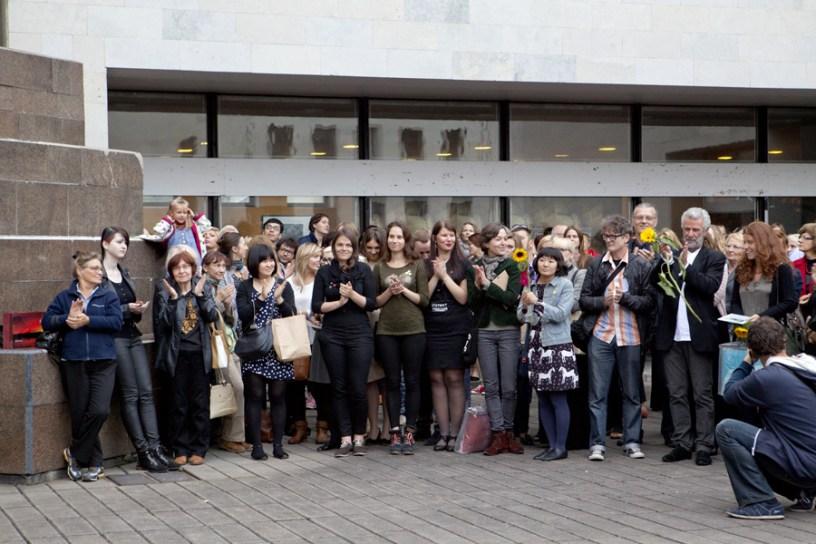 Unitekstas. Kaunas Biennial, Momento della premiazione del 13 settembre 2013 alla presenza della Giuria, del Sindaco di Kaunas e del Ministro della dei Beni Culturali Lituano, Kaunas (Lituania)