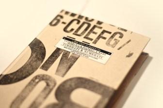 FRUIT 2013 | Copertina realizzata con caratteri mobili dell'accademia WDKA di Rotterdam