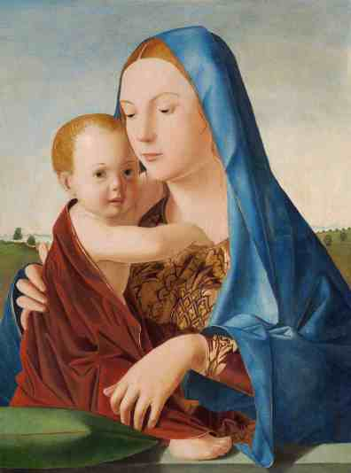 Antonello da Messina, Madonna con bambino (Madonna Benson), 1475, National Gallery of Art, Washington Andrew W. Mellon Collection, 1937
