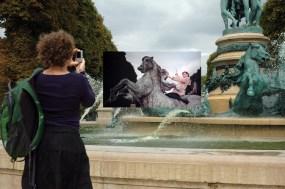 Gea Casolaro, Still here_Funny face-Jardin Marco Polo, 2009-2013, fotografia digitale stampata su alluminio, cm 66,5x100x 2,edizione unica, courtesy The Gallery Apart