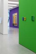 When Now is Minimal, veduta della mostra a Museion, 2013. Courtesy Sammlung Goetz. Foto Luca Meneghel In primo piano: Gerwald Rockenschaub, Ohne Titel, 1986 e Ohne Titel 1984