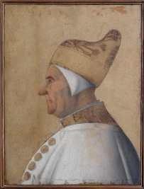 Gentile Bellini, Ritratto del doge Giovanni Mocenigo, (1478-85), 1479 circa, tempera su tavola, 62x45 cm, Museo Correr, Venezia