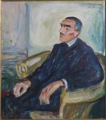 Edvard Munch, Jappe Nilssen in una sedia di vimini, 1925-1926, olio su tela, 78x69 cm, Collezione Erik M. Vik © The Munch Museum / The Munch-Ellingsen Group by SIAE 2013
