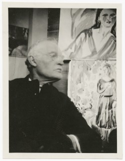 Edvard Munch, Autoritratto davanti a due acquerelli, Ekely, 1930 Foto © Munch Museet. © The Munch Museum / The Munch-Ellingsen Group by SIAE 2013