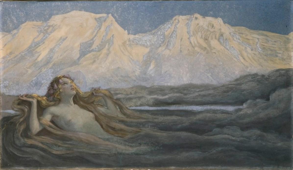 Alfons Siber, Risveglio di primavera, 1905, olio su tela, Innsbruck - A Tiroler Landesmuseum Ferdinandeum