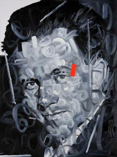 Wainer Vaccari, Werner Heisenberg, 2011, olio su tela, 80x60 cm Foto P. Terzi