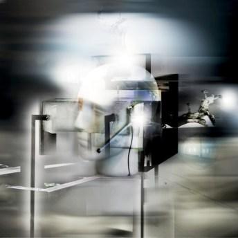 Maiorano, Strutture & mentali, 2014, pittura su stampa lambda, cm 120x120