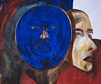 Francesco Clemente, Untitled 1983 olio su tela. Collezione Maramotti, Reggio Emilia © the artist Courtesy Collezione Maramotti