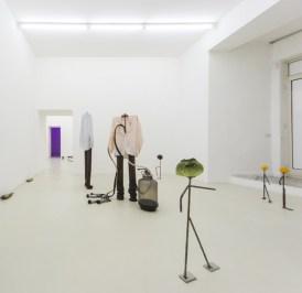Luca Francesconi, pane pane pane vino canale di scolo, 2014, exhibition view, galleria Umberto di Marino, Napoli