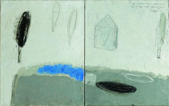 Alfredo Casali, Io sono un racconto sospeso nel paesaggio, 2012, olio su tela