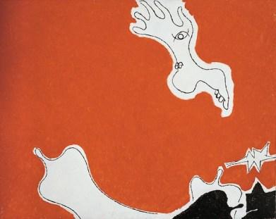 Osvaldo Licini, La grande amica n.2, 1948-50, olio su tela, 94x117 cm, Collezione privata Courtesy Lorenzelli Arte, Milano Foto Archivio Lorenzelli Arte, Milano