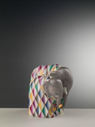 Gio Ponti, Elefantino fermalibro con rametto fiorito