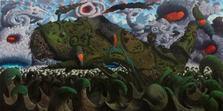 Fulvio Di Piazza, Across the Universe, 2013, olio su tela, 200x400 cm