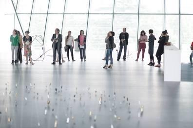 Tatiana Trouvé, I tempi doppi. Musieon, 2014. Front: 350 Points towards Infinity, 2009.Photo: Luca Meneghel, courtesy the artist, Gagosian Gallery, New York, Galerie Johann König, Berlin, Galerie Perrotin, Paris.