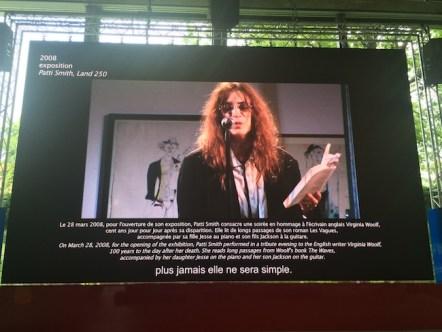 View of the exhibition Vivid Memories, May 10 – September 21, 2014, Fondation Cartier pour l'art contemporain, Paris,Patty Smith, ph. Isabella Falbo