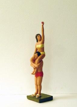 Nando Crippa, Adamo&Eva, 2014, terracotta dipinta, cm 55,5x14x 13,5
